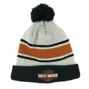 Harley-Davidson Double-Knit Warm Winter Pom Hat